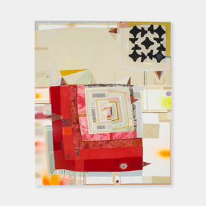 Artsuite - Barbara Campbell Thomas - Inscape - Barbara Campbell Thomas's work combines painting with quilting, overlaying their material vocabularies to create complex formal dialogues within each painting that resonate with the details of her own life and the history of each medium.