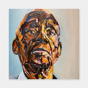 Artsuite - Beverly McIver - Proud Daddy - Original Painting. McIver's autobiographical paintings are richly colorful and chronicle her life struggle with her African-American identity. Her voice in these works is brave and bold and the different interpretations by white and black viewers highlights the collision of the worlds that she straddles daily.