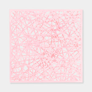 Artsuite - Original artwork is baby pink hand cut acrylic on yupo by Leigh Suggs. 10 inches by 10 inches