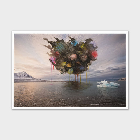 Artsuite - Sarah Anne Johnson - Party Boat - Sarah Anne Johnson's Arctic Wonderland emerged from an artist residency aboard a double masted schooner in the arctic circle. Using the images she created there as starting points for a number of mixed-media photographic works, Johnson's series comments on the sublime beauty of nature, it's inherent fragility and the irreparable damage that humanity has, and continues, to inflict upon it.