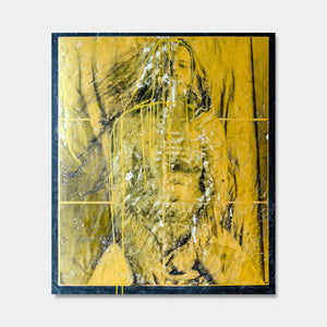 Artsuite - Self Portrait original artwork by Tim Lytvinenko. Mixed Media - Archival print on metallic paper with gold paint and gel. Size is 40 × 32 inches
