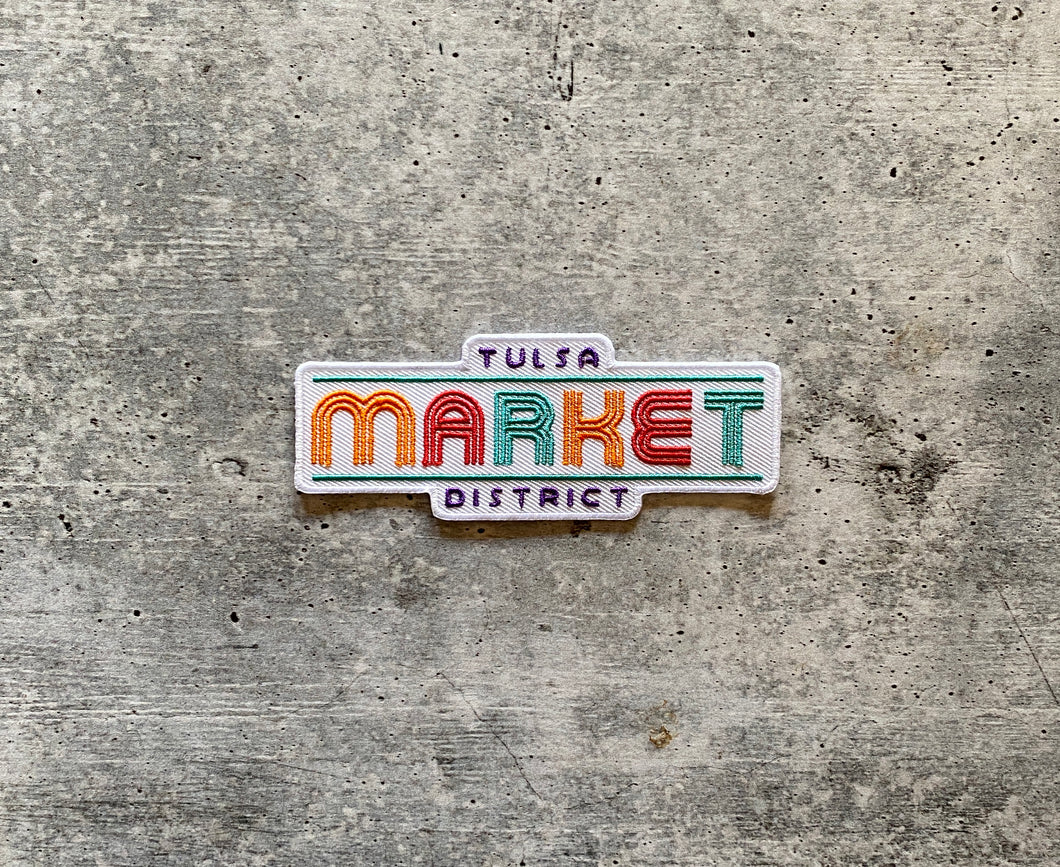 Tulsa Market District Embroidered Patch