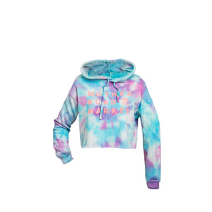 Hand Tie-Dyed Cropped Hoodie