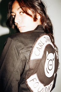 CJH x Levi´s The Trucker Boys Signature Jacket, Dark Horse - Schwarz