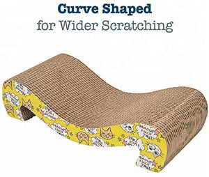 Cosy Life Cat Scratcher Eco-Friendly Cardboard for Scratching, Stretching, and Lounging + catnip