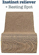 Load image into Gallery viewer, Cosy Life Cat Scratcher Eco-Friendly Cardboard for Scratching, Stretching, and Lounging + catnip