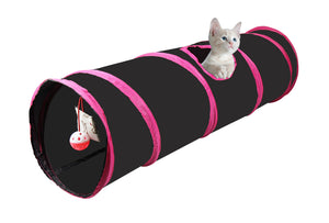 Cosy Life Cat Play Tunnel Collapsible with Integrated Toy