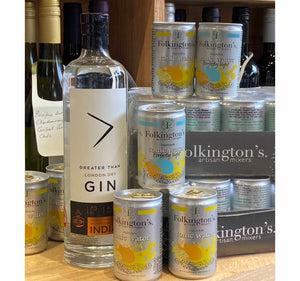 Gin & Tonic OFFER : Greater than London Dry Gin & Case Folkingtons Light Tonic