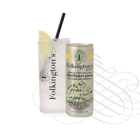 Folkingtons Elderflower Presse 250ml can x 12