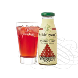 Folkingtons Artisans Juices : Pure Pressed Cranberry Juice 250ml bottles x 12