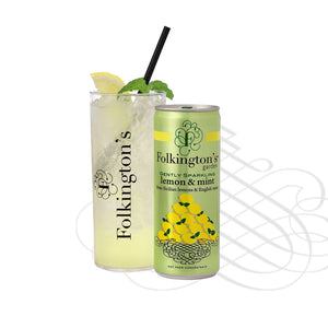 Folkingtons Lemon & Mint Presse 250ml can x 12