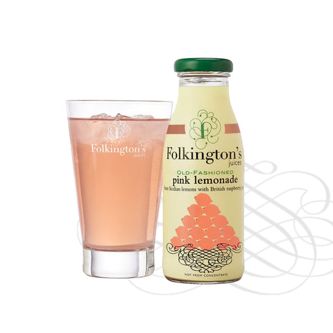 Folkingtons Artisans Juices : Old Fashioned Pink Lemonade  250ml bottles x 12
