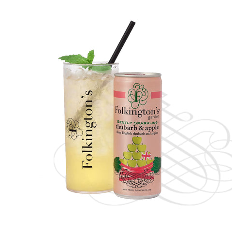 Folkingtons Rhubarb & Apple Presse 250ml can x 12