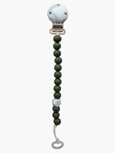 My Baby Rocks Colors silicone pacifier chain Hunter Green