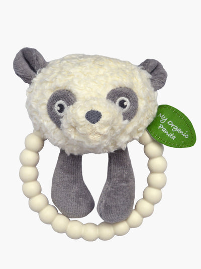 My Organic Panda silicone rattle and teether
