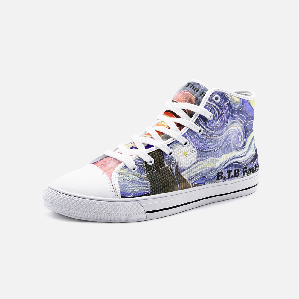 "B.T.B ""Watercolor"" Foot Art High Top Sneakers"