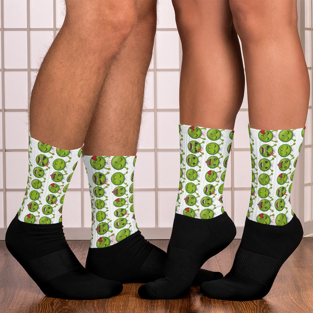 B.T.B Alien Emoji Pattern Socks