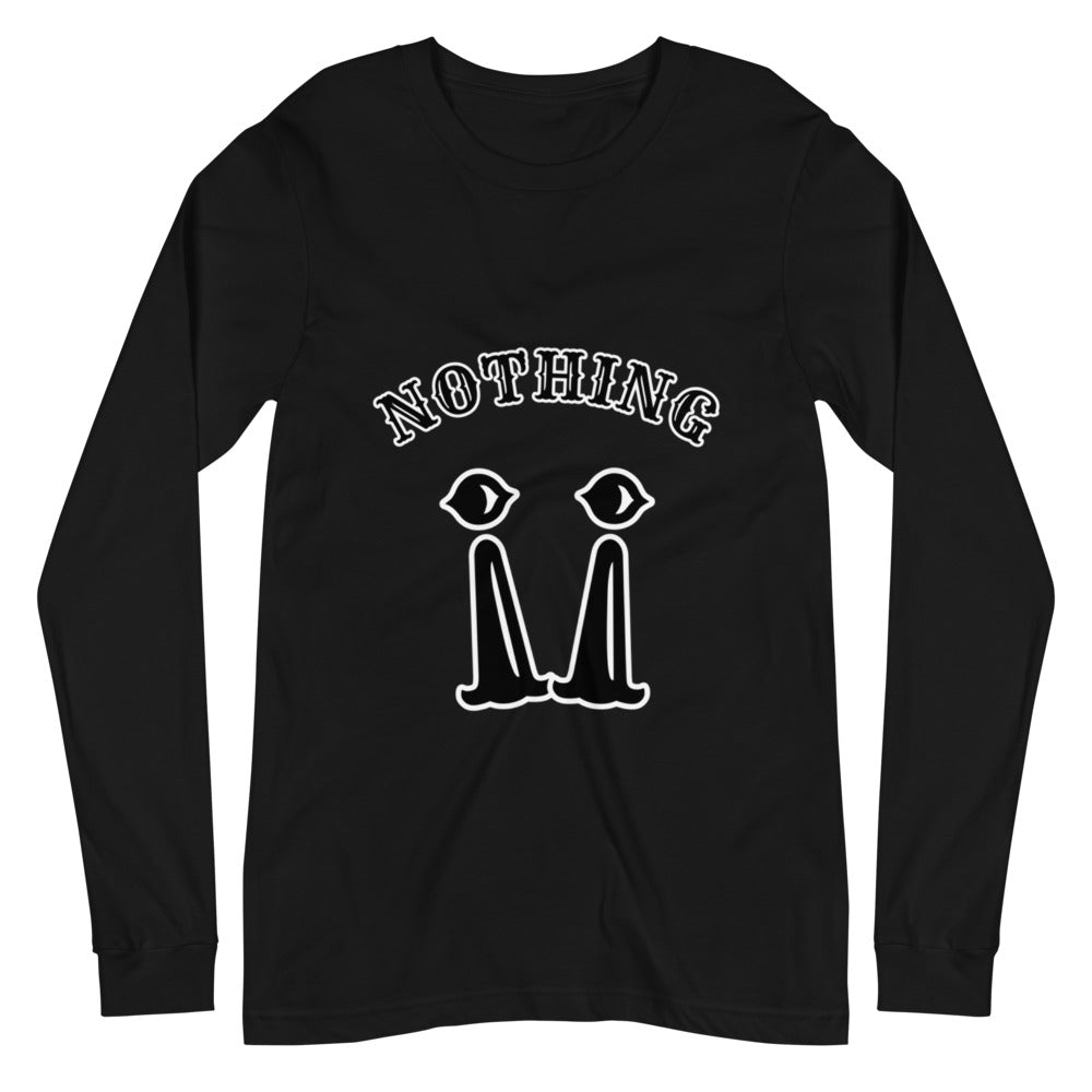 "B.T.B ""Nothing !!"" Long Sleeve Tee (QR Coded)"