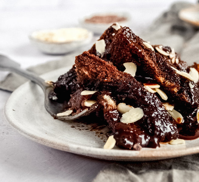 Chocolate Bread & Butter Pudding - Plant-Based & refined Sugar Free