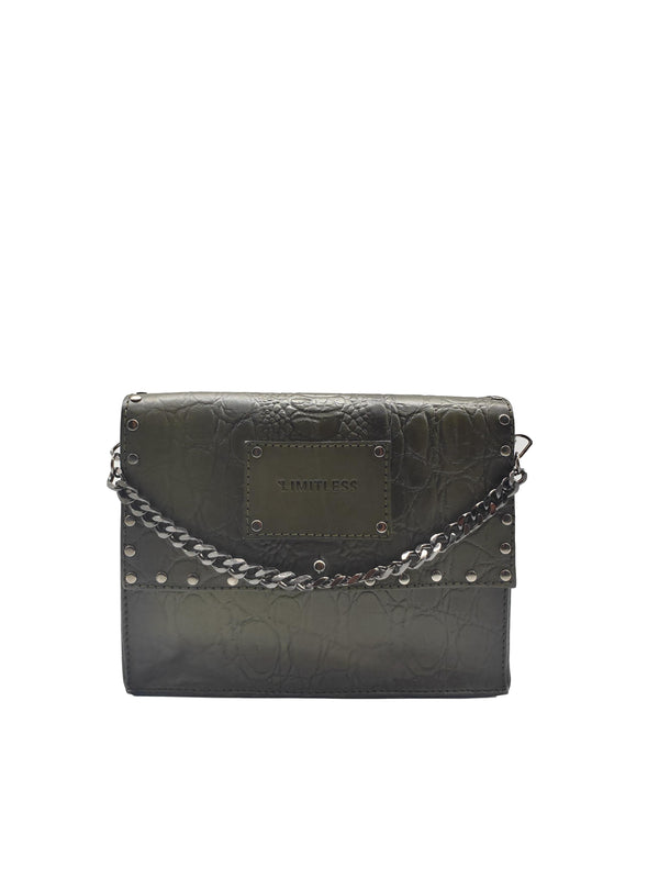 Small Versatile Bag #Green Croco Rock