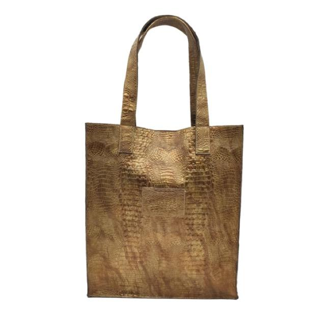 Large Bag #GOLD CROCO