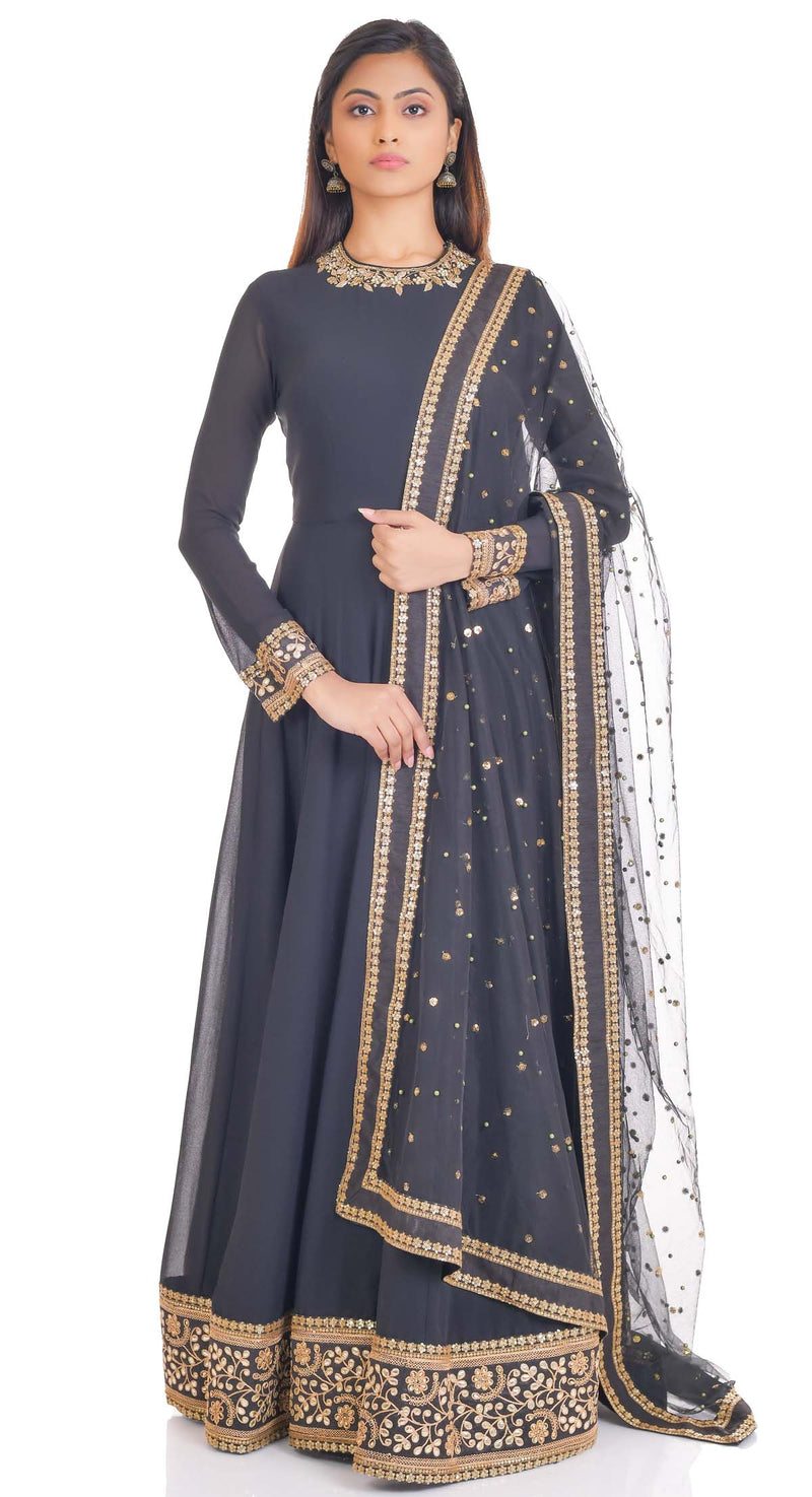 party wear anarkali suits by Poshak