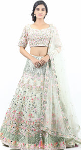 SEA GREEN APPLIQUE LEHENGA