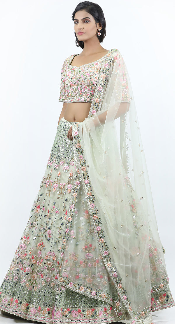 best designer lehenga for reception party Chandigarh