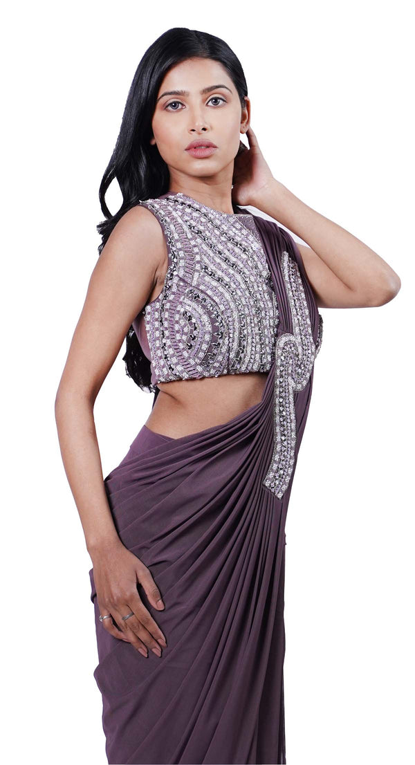 party wear saree by poshak