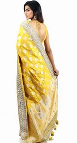 YELLOW BANARSI SAREE