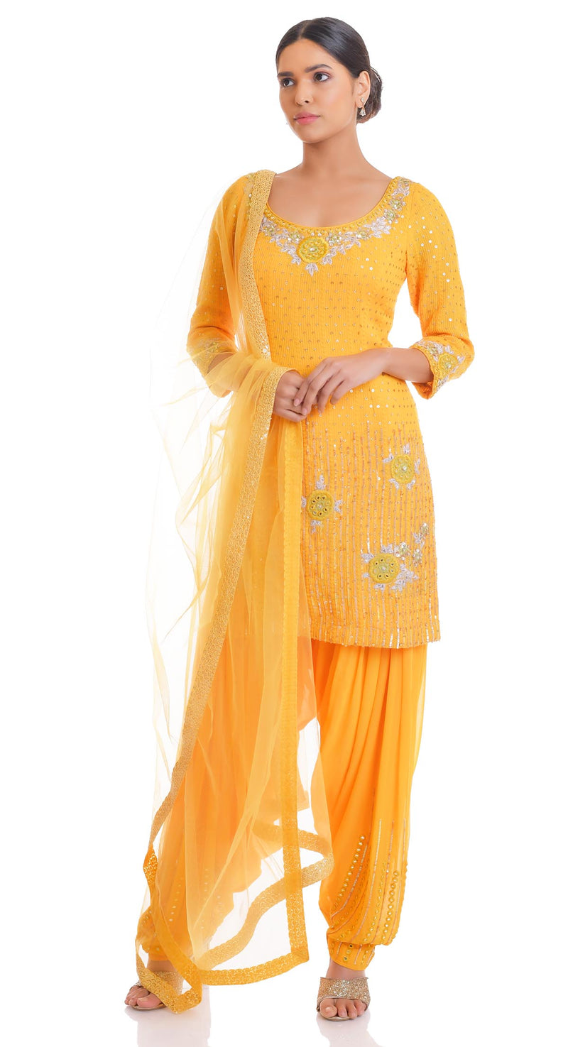 party wear sharara suits with long kameez