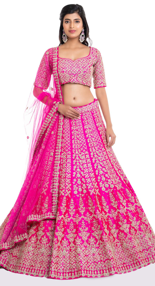 latest bridal lehenga designs by Poshak Chandigarh