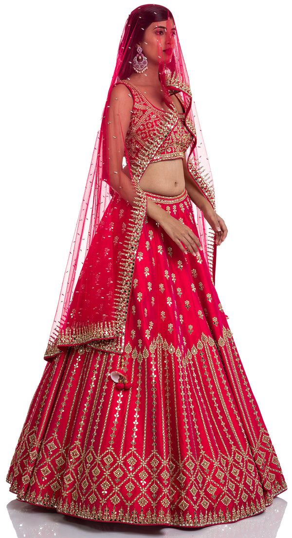 Indian bridal lehenga by Poshak Chandigarh