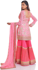 sharara indian outfit by poshak