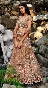 SEQUINED GOLD LEHENGA