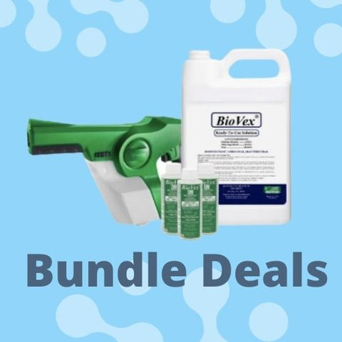 Handheld victory electrostatic sprayer with 3 gallons of biovex disinfectant