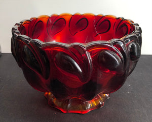 Large Ruby Red Bowl