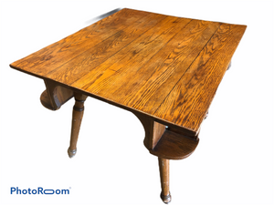 Antique Oak Game Table