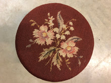 Load image into Gallery viewer, Vintage Needle Point Foot Stool