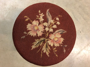 Vintage Needle Point Foot Stool