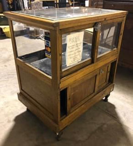 Small Antique Oak Showcase