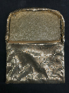 Gold sequence hand bag, purse