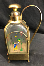 Load image into Gallery viewer, Music Box in Brass & Glass Decanter