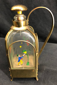 Music Box in Brass & Glass Decanter