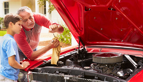Service a car with filters