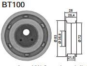 BT100 size guide