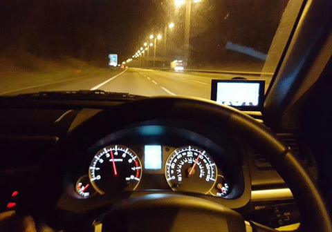 Vehicle driving at night