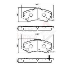 Brake Pads Dodge-Jeep  FDB4074