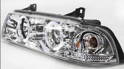 Chrome Angel Eye Headlights  Bmw E36