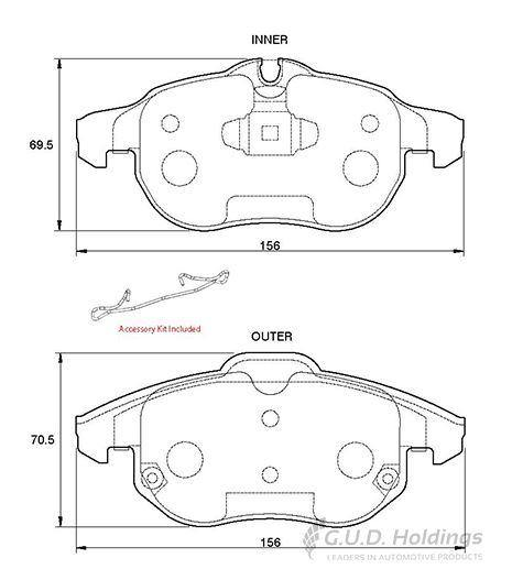 Brake Pads Fit Opel Vehicles D3797 - Cape Town Auto Spares